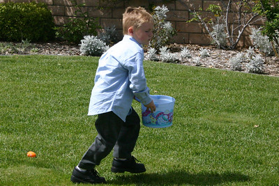 Christopher on an Easter egg hunt