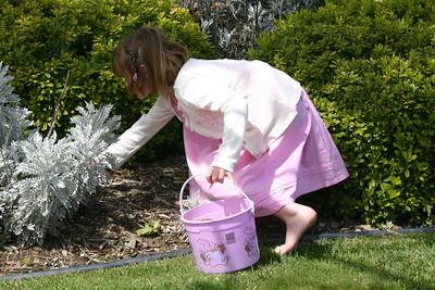 Sydney on an Easter egg hunt