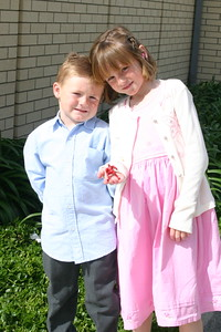 Christopher & Sydney before Easter Sunday service.