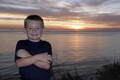 Christopher enjoying the sunset at El Capitan State Beach