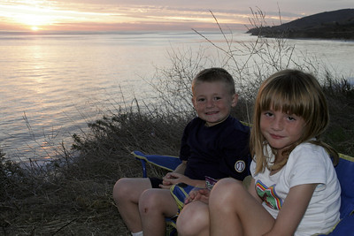 Christopher & Sydney enjoying the sunset at El Capitan State Beach