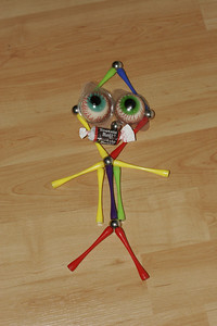 A little Magnetix person created by one of the kids.