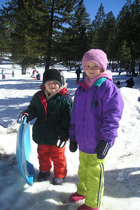 There was snow in the mountains, so we made a trip to Frazier Park to enjoy a day of sledding.