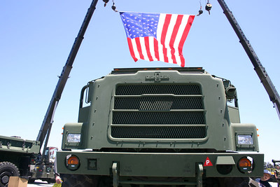 Front grill of a MTVR at Seabee Days.