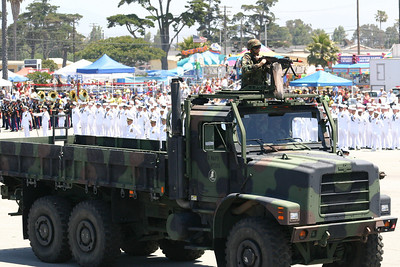 Medium Tactical Vehicle Replacement (MTVR) in the Seabee Days parade