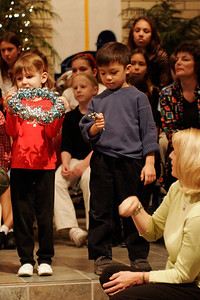 Eli singing with the other Sunday School students in the St. John's Lutheran School 2005 Christmas Program.