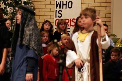 Sydney & Sierra singing during the St. John's Lutheran School 2005 Christmas Program.