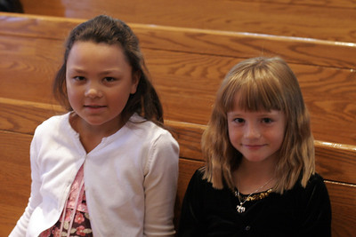 Sydney and Alanna before their piana recital.