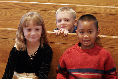 Sydney, Christopher & Christian before their piano recital.
