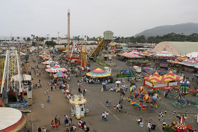 The carnival lot at the 2005 Ventura County Fair.