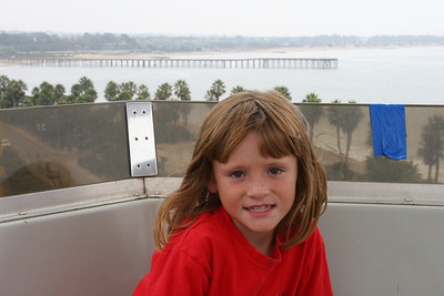 Sydney on the big ferris wheel at the 2005 Ventura County Fair.