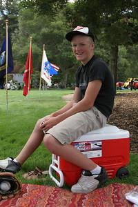 Nathan enjoying a break during the Valley Heritage Days celebration