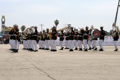USMC Band marching as part of the Seabee Days parade.