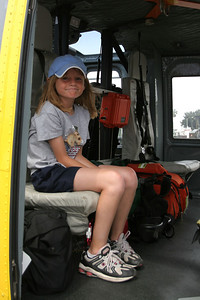 Sydney checking out the Ventura County Sheriff's helicopter during Seabee Days.