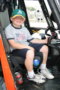 Christopher checking out a US Coast Guard helicopter during Seabee Days.