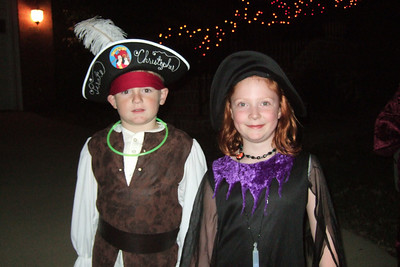 Christopher with his classmate Caris on Halloween. (Image taken with FinePix F10 at ISO 800, f2.8, 1/100 sec and 8mm)