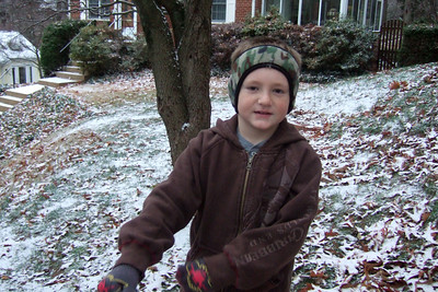 Christopher was excited to see the first snow of the year, even though it was only a dusting. (Image taken with FinePix F10 at ISO 800, f2.8, 1/110 sec and 8mm)