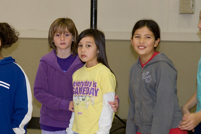 Sydney and Sierra enjoying basketball camp at St. John's Lutheran School.