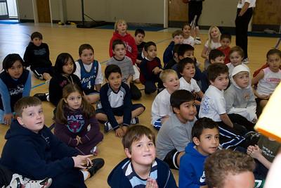 Basketball camp at St. John's Lutheran School.