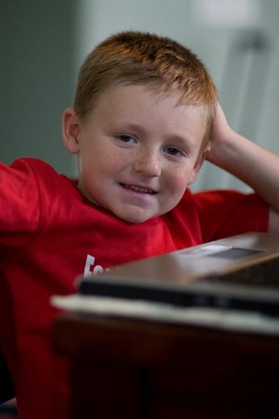 Christopher hanging out around the house while dad was checking out his new 85mm f/1.2 lens.