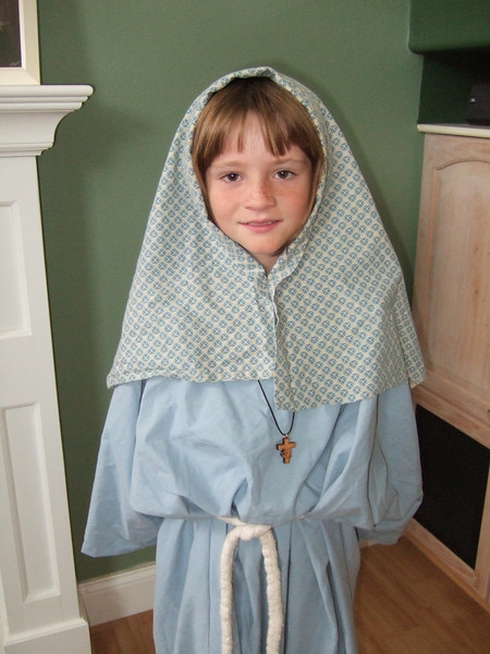 Sydney dressed as a Storybook Character during Lutheran Week at school. She chose Mary from the Bible. Not a bad choice.