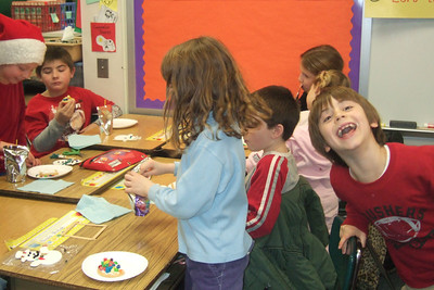 Ms. Glover's 2nd grade classroom Christmas party at Taylor Elementary. (Image taken with FinePix F10 at ISO 800, f3.2, 1/100 sec and 10.4mm)