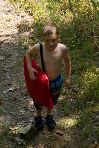 Christopher on his way back up the hill to our camp site after enjoying a swim at Edgar Evins State Park, which is located about an hour east of Nashville, Tennessee. (Image taken with Canon EOS 20D at ISO 200, f7.1, 1/160 sec and 70mm)