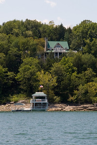 Alan Jackson's house boat and lakeside retreat on Center Hill Lake, which is located about an hour east of Nashville, Tennessee. (Image taken with Canon EOS 20D at ISO 200, f11.0, 1/250 sec and 70mm)