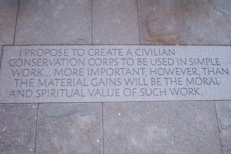 Franklin Delano Roosevelt Memorial. (Image taken with FinePix F10 at ISO 200, f2.8, 1/300 sec and 8mm)