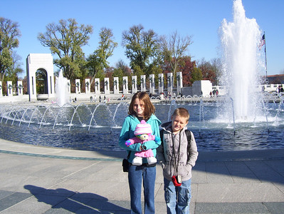 Christopher and Sydney enjoying the National World War II Memorial with their grandparents during a tour of the Washington monuments. (Image taken with KODAK EASYSHARE C653 ZOOM DIGITAL CAMERA at ISO 80, f4.8, 1/640 sec and 6mm)