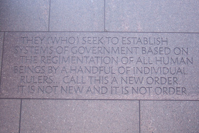 Franklin Delano Roosevelt Memorial. (Image taken with FinePix F10 at ISO 200, f3.4, 1/125 sec and 12.2mm)