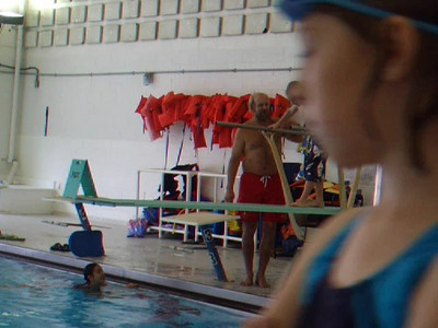 Christopher at diving practice. Sydney is taking the class as well, but she was home sick today. Their instructor is excellent. VIDEO