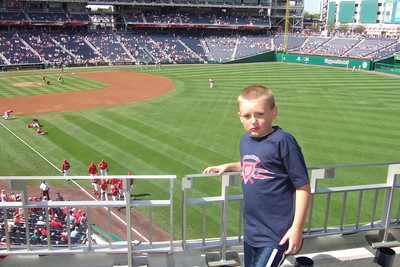 The Lounsbury family invited us to a Sunday afternoon game to see the Washington Nationals play the San Diego Padres. Unfortunately, the Nats lost 6 to 2. We still had a great time though and Christopher almost caught a ball from the right fielder who tossed it into the stands after warming up between innings. (Image taken with FinePix F10 at ISO 200, f5.0, 1/500 sec and 8mm)