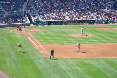 The Lounsbury family invited us to a Sunday afternoon game to see the Washington Nationals play the San Diego Padres. Unfortunately, the Nats lost 6 to 2. We still had a great time though and Christopher almost caught a ball from the right fielder who tossed it into the stands after warming up between innings. (Image taken with FinePix F10 at ISO 200, f5.0, 1/350 sec and 24mm)