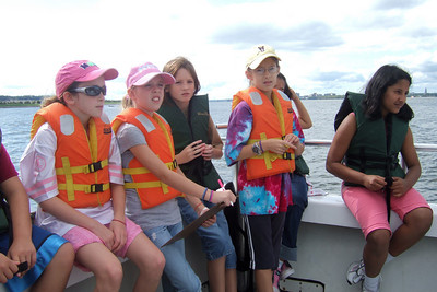 Answering questions based on what they learned from studying the maps. Sydney's 5th grade class from Taylor Elementary had a great field trip on the Potomac River guided by the Chesapeake Bay Foundation. (Image taken with FinePix F10 at ISO 80, f4.5, 1/320 sec and 8mm)