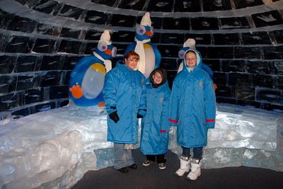 Kathy, Christopher and Sydney in an ice igloo at Gaylord National's ICE! (24 Dec 2009) (Image taken by Patrick R. Kane on 24 Dec 2009 with Canon EOS 20D at ISO 400, f4.0, 1/60 sec and 17mm)