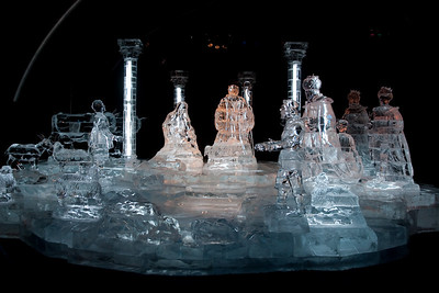 An ice nativity scene at Gaylord National's ICE! (24 Dec 2009) (Image taken by Patrick R. Kane on 24 Dec 2009 with Canon EOS 20D at ISO 400, f4.0, 1/80 sec and 17mm)
