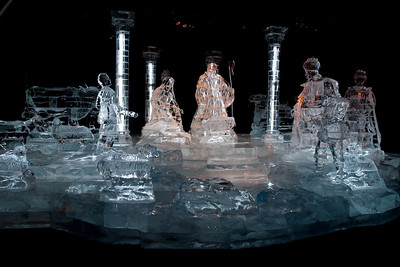 An ice nativity scene at Gaylord National's ICE! (24 Dec 2009) (Image taken by Patrick R. Kane on 24 Dec 2009 with Canon EOS 20D at ISO 400, f4.5, 1/100 sec and 17mm)