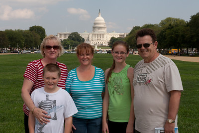 Kathy, Christopher and  Sydney Kane on the National Mall with Kathy's sister, Gale, and brother-in-law, Ivan Milic. (Image taken by Patrick R. Kane on 28 Aug 2010 with Canon EOS 20D at ISO 200, f13.0, 1/400 sec and 36mm)