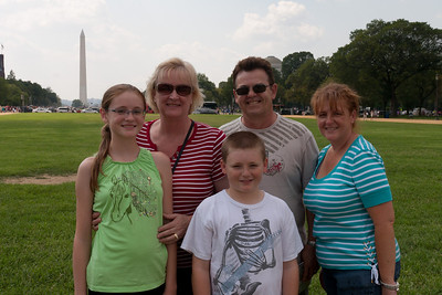 Kathy, Christopher and  Sydney Kane on the National Mall with Kathy's sister, Gale, and brother-in-law, Ivan Milic. (Image taken by Patrick R. Kane on 28 Aug 2010 with Canon EOS 20D at ISO 200, f11.0, 1/320 sec and 28mm)