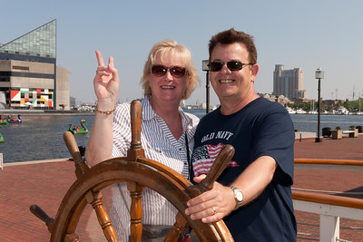Gale and Ivan Milic in Baltimore's Inner Harbor (Image taken by Patrick R. Kane on 29 Aug 2010 with Canon EOS 20D at ISO 200, f14.0, 1/250 sec and 30mm)