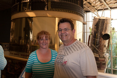Kathy and Ivan in front of Skylab in the National Air and Space Museum (Image taken by Patrick R. Kane on 28 Aug 2010 with Canon EOS 20D at ISO 200, f4.0, 1/60 sec and 17mm)