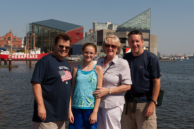 Ivan and Gale Milic with Sydney and Patrick Kane in Baltimore's Inner Harbor (Image taken by Patrick R. Kane on 29 Aug 2010 with Canon EOS 20D at ISO 200, f13.0, 1/500 sec and 25mm)