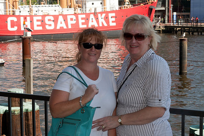 Sisters Kathy and Gale in Baltimore's Inner Harbor (Image taken by Patrick R. Kane on 29 Aug 2010 with Canon EOS 20D at ISO 200, f11.0, 1/250 sec and 44mm)