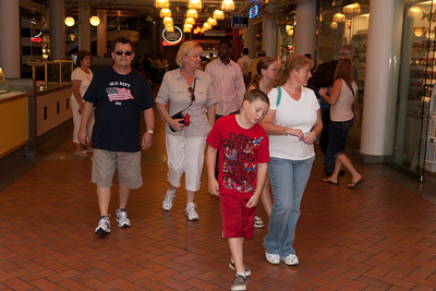 Ivan and Gale Milic walking through the shops with Christopher and Kathy Kane in Baltimore's Inner Harbor (Image taken by Patrick R. Kane on 29 Aug 2010 with Canon EOS 20D at ISO 200, f4.5, 1/60 sec and 25mm)