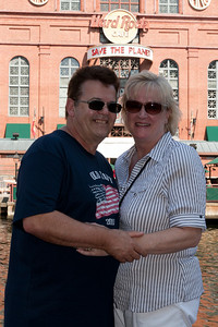 Ivan and Gale Milic in front of the Hard Rock Cafe in Baltimore's Inner Harbor (Image taken by Patrick R. Kane on 29 Aug 2010 with Canon EOS 20D at ISO 200, f9.0, 1/250 sec and 36mm)