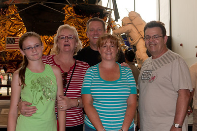 Sydney, Patrick and Kathy Kane showing the National Air and Space Museum to Kathy's sister, Gale, and brother-in-law, Ivan Milic. National Air and Space Museum (Image taken by Patrick R. Kane on 28 Aug 2010 with Canon EOS 20D at ISO 200, f4.0, 1/60 sec and 28mm)