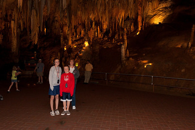 Sydney, Christopher and Kathy inside Luray Caverns (Image taken by Patrick R. Kane on 15 Aug 2010 with Canon EOS 20D at ISO 200, f3.2, 1/60 sec and 15mm)