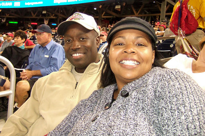 Ms. Stephanie and Ron. The Kinhaven School teachers and staff enjoyed a trip to the ball park to watch the Washington Nationals play the Florida Marlins. Unfortunately, the Nats lost 1 to 3; however, that didn't stop everyone from having a great time. (Image taken by Kathy T. Kane on 10 Sep 2010 with FinePix F10 at ISO 800, f2.8, 1/180 sec and 8mm)