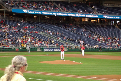 The Kinhaven School teachers and staff enjoyed a trip to the ball park to watch the Washington Nationals play the Florida Marlins. Unfortunately, the Nats lost 1 to 3; however, that didn't stop everyone from having a great time. (Image taken by Kathy T. Kane on 10 Sep 2010 with FinePix F10 at ISO 800, f5.0, 1/160 sec and 24mm)